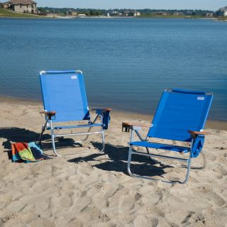 Rio Blue Beach Bum Beach Chair   Set of 2   RIB234