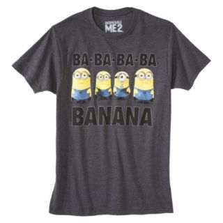 Despicable Me Minions Mens Graphic Tee   Charcoal S