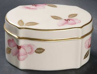 Lenox China Royal Blossom Collection Oblong Box & Lid, Fine China Dinnerware   G