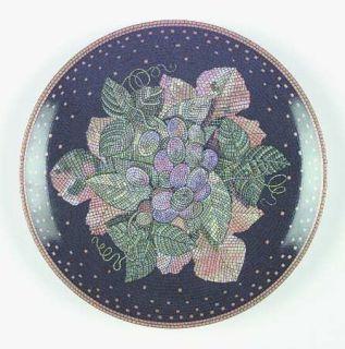 Sasaki China Ravenna Charcoal Accent Salad Plate, Fine China Dinnerware   Fruit&