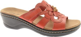 a9b095e8c6aa Womens Clarks Leisa Taffy Red Leather Sandals