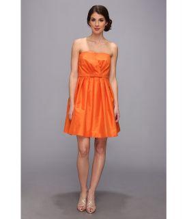 Donna Morgan Strapless Shantung W Belt Dress Womens Dress (Orange)
