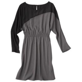Mossimo Womens Long Sleeve Colorblock Dress   Gray/Flint S