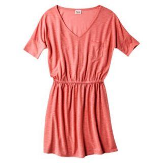 Mossimo Supply Co. Juniors V Neck Dress   Maori Flower Red XL(15 17)