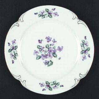 Crescent (Japan) Viola Dinner Plate Fine China Dinnerware Japan Purple Flowe ... & Crescent (Japan) Viola Salad Plate Fine China Dinnerware Japan ...