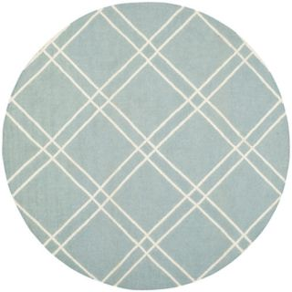 Safavieh Dhurries Light Blue/Ivory Rug DHU638C Rug Size: Round 6