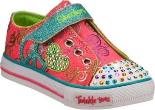 Infant/Toddler Girls Skechers Twinkle Toes Shuffles Soft Steps Vegetarian Shoes