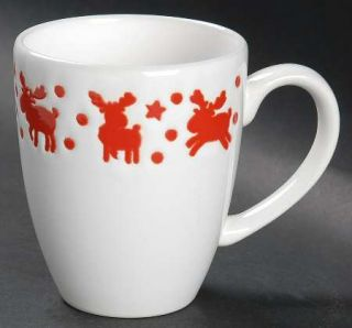 Waechtersbach Willie Latte Mug, Fine China Dinnerware   Fun Factory Holiday,Red