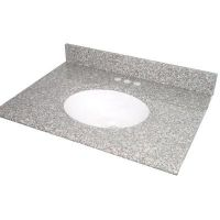 Pegasus PE37664 Universal 37 In. Granite Vanity Top In Montero With White Basin
