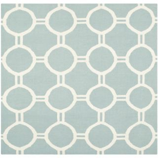 Safavieh Dhurries Light Blue/Ivory Rug DHU636C Rug Size: Square 6 x 6