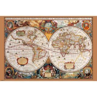 Art   17th Century World Map Poster
