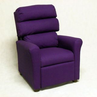 Brazil Furniture Waterfall Back Child Recliner   Solid Purple   1455 SOLID
