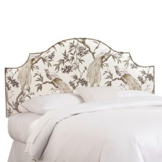 Skyline Twin Headboard: : Roberta Nail Button Notched Headboard   Winter