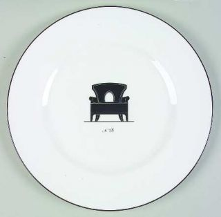 Wedgwood Musical Chairs Dinner Plate, Fine China Dinnerware   B Barry,Black Chai
