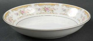 Montgomery Ward Chippendale Coupe Soup Bowl, Fine China Dinnerware   Floral Rim,