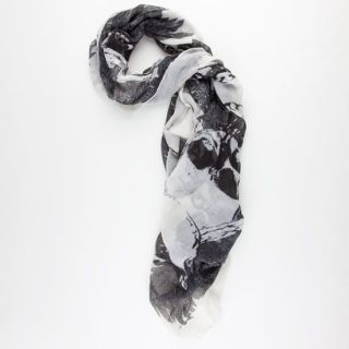 Feathered Skull Scarf White Combo One Size For Women 225606167