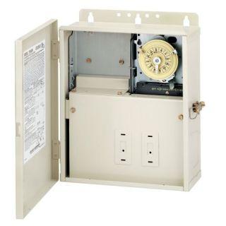 Intermatic T10004R Timer, 240V DPST Pool/Spa/Light Control Panel w/ Mechanical Timer