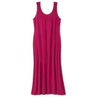 Merona Womens Plus Size Sleeveless V Neck Maxi Dress   Red 1