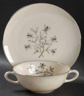 Lenox China Princess Flat Cream Soup Bowl & Dessert Plate/Saucer Set, Fine China
