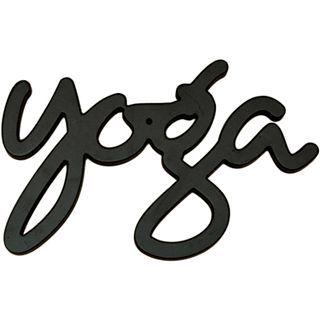 ART Yoga Wood Sign Wall Decor, Black