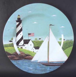 Sakura Coastal Breeze Chop Plate/Round Platter Plastic 15, Fine China Dinnerwar