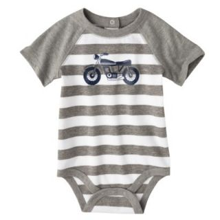 Circo Newborn Boys Motorcycle Bodysuit   Grey Stripe 12 M