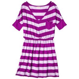 Mossimo Supply Co. Juniors V Neck Elbow Sleeve Dress   Violet XL(15 17)