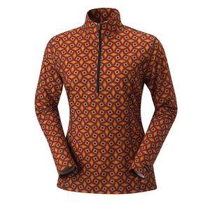 Kerrits Wicking Zip Neck Shirt Dove Hex Large
