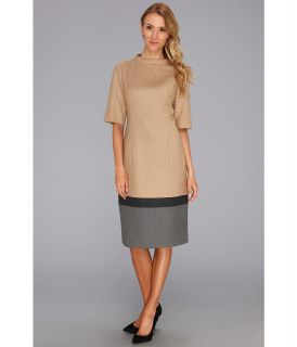 Pendleton Worsted Wool Flannel Colorblock Dress Womens Dress (Beige)