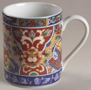 China(Made In China) Imari Edo Mug, Fine China Dinnerware   Cobalt&Rust Floral I