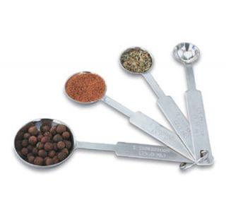Vollrath 4 Piece Measuring Spoon Set   18 ga Stainless