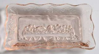 Tiara Animals & Figurines Pink Small Lords Supper Tray   Crystal Figurines & Gi