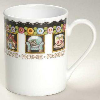 Mary Engelbreit Love,Home,Family,Friends Mug, Fine China Dinnerware   Houses,Cha