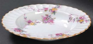 Spode Dorothy Perkins Rim Soup Bowl, Fine China Dinnerware   Multicolor Roses, S
