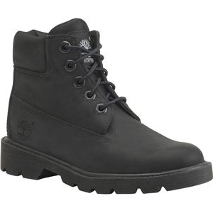 Timberland Kids 6 Inch Classic Boot Youth Black Nubuck Boots   10710