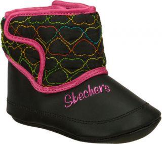 Infant/Toddler Girls Skechers Lil Snugglers   Black/Multi Boots