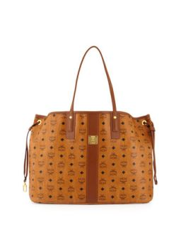 Liz Reversible Shopper Tote Bag, Cognac   MCM