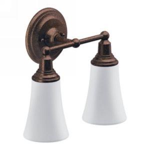 Moen YB8262ORB Rothbury Two Globe Bathroom Wall Light Fixture