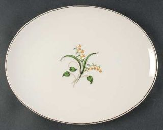 Edwin Knowles Forsythia 12 Oval Serving Platter, Fine China Dinnerware   Yellow