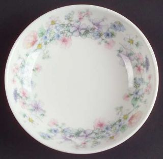 Wedgwood Angela Coaster, Fine China Dinnerware   Pastel Flowers, Smooth, Coupe