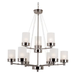 TransGlobe Lighting Urban Swag 9 Light Chandelier 70339 BN