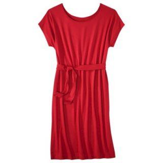 Merona Womens Knit Belted Dress   Wowzer Red   S