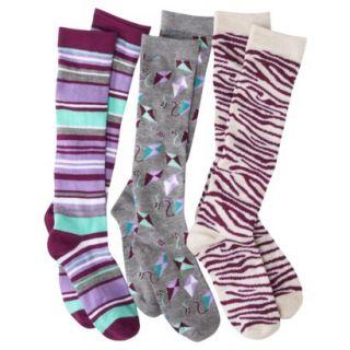Xhilaration Juniors 3 Pack Fashion Knee High Socks   Assorted Colors/Patterns