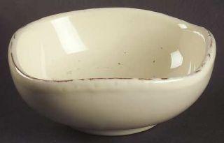 Vietri (Italy) Crema Condiment Bowl, Fine China Dinnerware   Cream Body, Bubbled