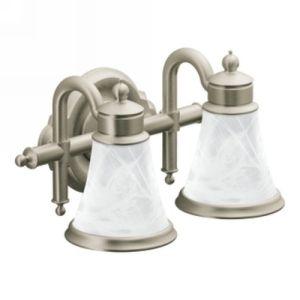 Moen YB9862BN Waterhill Two Globe Bathroom Wall Light Fixture