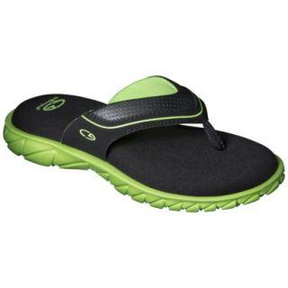 Boys C9 by Champion Pat Flip Flop Sandals   Black/Green M