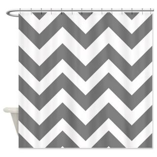 Gray Chevron Shower Curtain Use Code FREECART At Checkout