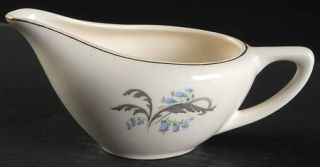 Edwin Knowles Bluebells Creamer, Fine China Dinnerware   Bluebell Flowers,Gray L