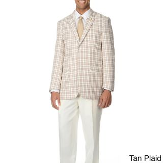 Falcone Mens Plaid 3 piece Vested Suit