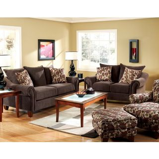 Furniture Of America Chelmsfort 2 piece Transitional Fabric Sofa And Loveseat Set